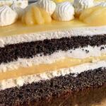 """Маковый торт с лимонным курдом и кремом """"Дипломат"""""""