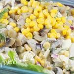 Салат с шампиньонами — быстрый и вкусный салат с грибами