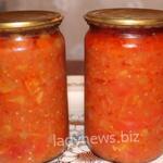 Салат из кабачков, помидоров, моркови и перца на зиму