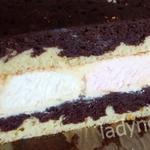 Торт Зефирный с черно-белыми коржами и вкусной начинкой