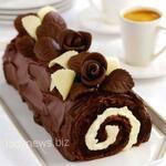 Шоколадный рулет без выпечки — десерт, который тает во рту