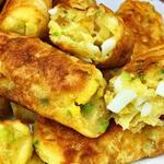 Ленивые пирожки с яйцом и зеленым луком за 30 минут (Видео)