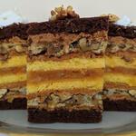 """Торт """"Рыжая белка"""" необыкновенный по вкусу и красивый в разрезе"""