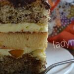 Торт Флирт — шоколад, персики, нежный творог