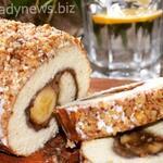 Банановый рулет с орехами — готовится просто и быстро