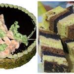 Торт «Белая акация» с тонкими белыми и шоколадными коржами, с орехами