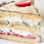 Бисквитный торт Семейный с фруктами и ягодами - рецепт с фото