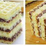 Вафли «Два цвета» — вкусный и быстрый в приготовлении десерт