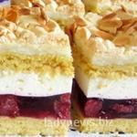 Нежный песочный торт с желе и ягодами - рецепт приготовления