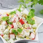 Фантастический Салат с крабовыми палочками, пошаговый рецепт с фото