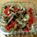 Вкусный салат с перцем и грибами шампиньонами на зиму