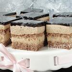 Кофейно-ореховый торт с кофейным желе