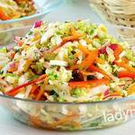 """Легкий, витаминный салат """"Свежесть"""" — простой рецепт с фото"""