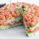 Суши-торт «Филадельфия» — для любителей вкусностей