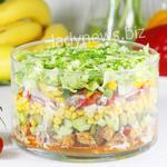 Вкусный и популярный салат Гироскоп, пошаговый рецепт с фото