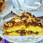 Нежный бисквит с кофе и миндалем - пошаговый рецепт с фото